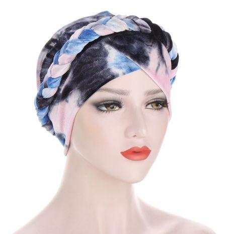 chapeau tressé en velours de lait poncé tie-dye NHHV276068's discount tags