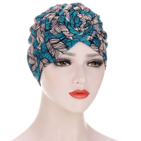 Spiral Turban Multicolor Cap NHHV276070's discount tags