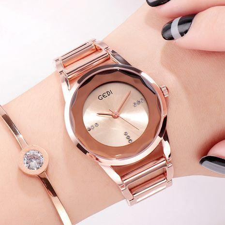 rose gold diamond steel band waterproof quartz watch  NHSR276086's discount tags