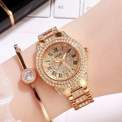 Stahlband Gypsophila Diamant römische Skala Uhr NHSR276114's discount tags