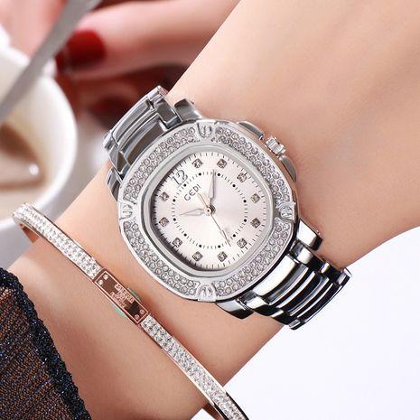 Fashion Diamond Steel Band Waterproof Square Dial Quartz Watch NHSR276128's discount tags