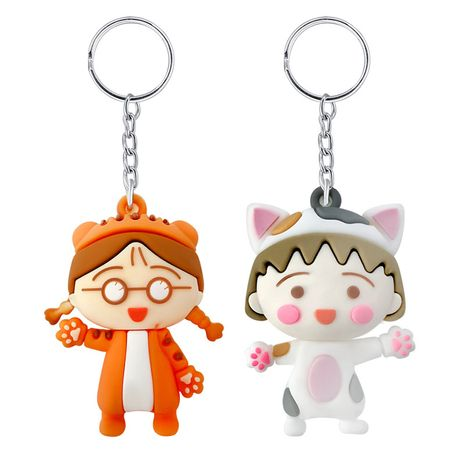 Creative pvc soft plastic cute little girl keychain NHAP276146's discount tags