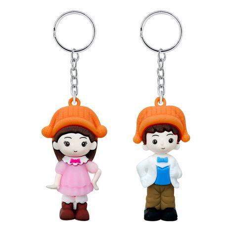 PVC cartoon doll cute boys and girls keychain  NHAP276150's discount tags