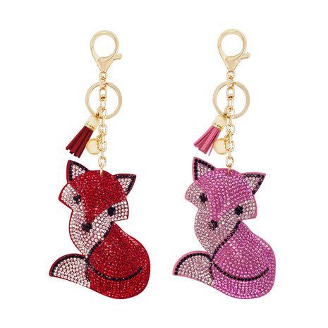 cute cartoon diamond-studded fox keychain NHAP276177's discount tags