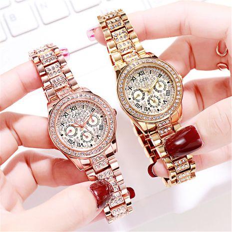diamond-studded Roman numerals waterproof quartz watch  NHSR276203's discount tags