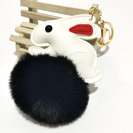 creative cartoon rabbit fur ball keychain NHDI275814's discount tags