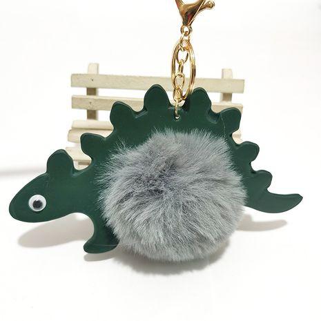 cartoon dinosaur fur ball keychain NHDI275815's discount tags