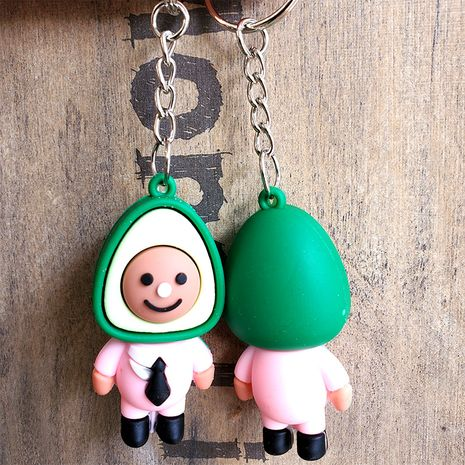 Simulation 3D doll avocado keychain  NHDI275820's discount tags