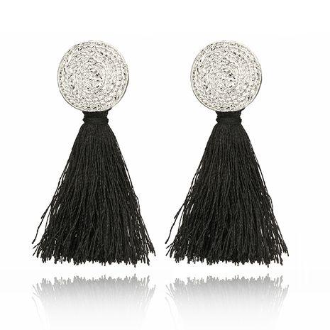 black tassel Bohemian long geometric metal earrings NHGY277798's discount tags