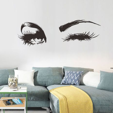 Eyes charming living room bedroom background decorative painting PVC wall stickers wholesale  NHAF276249's discount tags