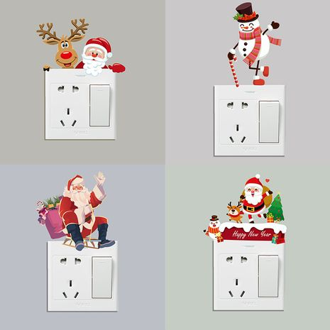 switch stickers Christmas wall switch decoration stickers New Year removable wall stickers NHAF276253's discount tags