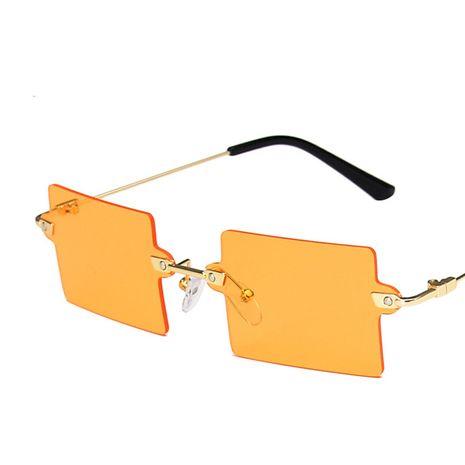 gafas de sol cuadradas retro sin montura NHKD275830's discount tags