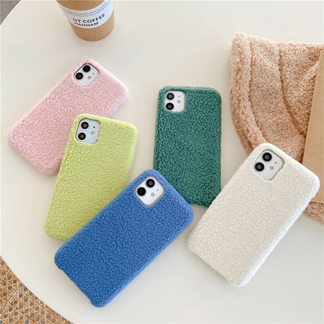 Autumn and winter lamb flannel mobile phone case for iphone7/8plus/se2 XR Apple 12Pro/max  NHFI275963's discount tags