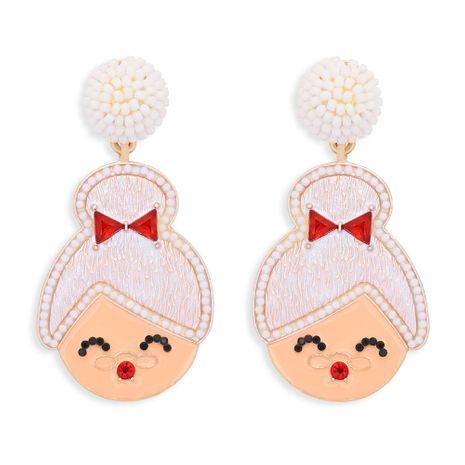 Christmas grandmother diamond earrings NHJQ277797's discount tags