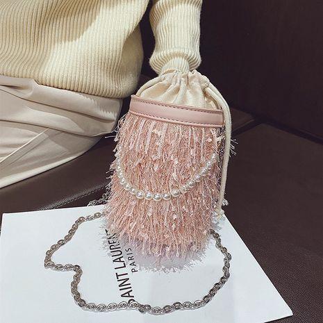Nuevo bolso de mensajero de cadena de perlas de moda popular con flecos NHLH276685's discount tags