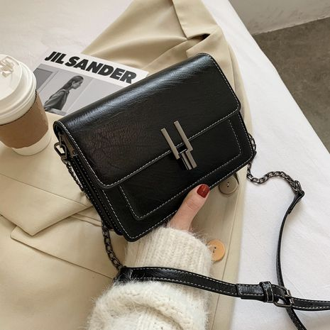 Simple texture new trendy fashion chain small square bag  NHLH276692's discount tags