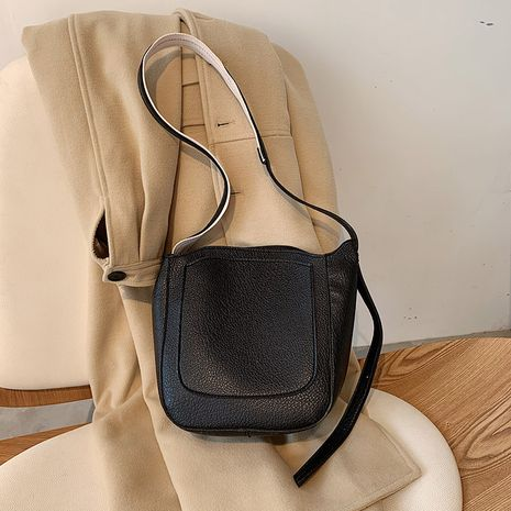 Soft leather  korean new texture fashion portable underarm bucket bag  NHJZ276713's discount tags