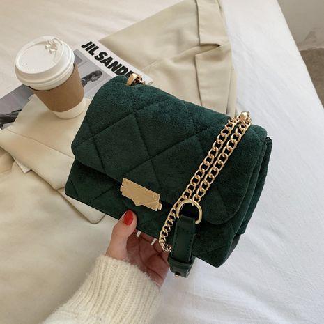 Bolso de mensajero de hombro de cadena de textura de moda nueva NHJZ276750's discount tags
