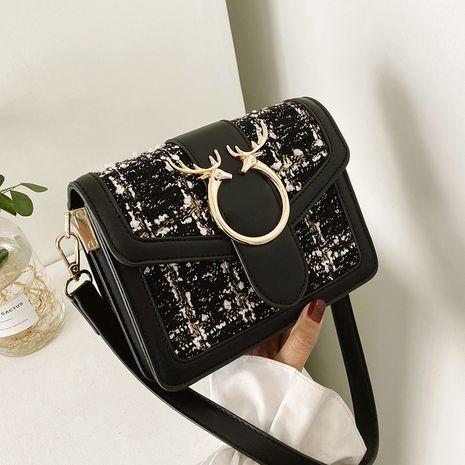 bolso cuadrado pequeño de lana con un solo hombro de nueva tendencia NHJZ276807's discount tags