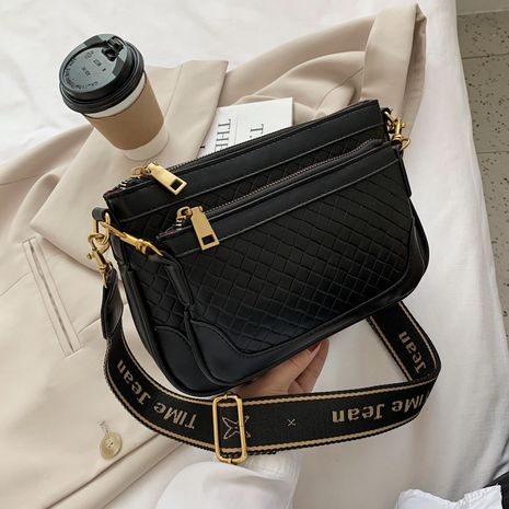 Fashion  new trendy  woven pattern one-shoulder messenger bag NHJZ276841's discount tags