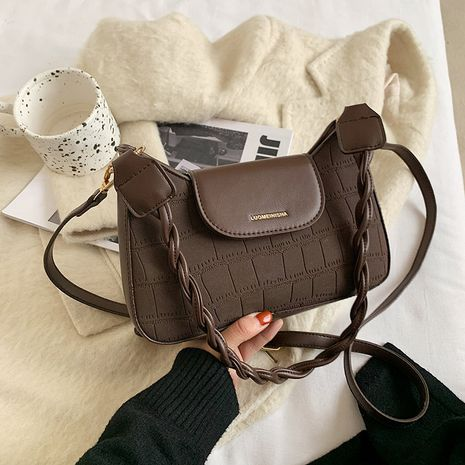 Fashion stone  simple  one-shoulder messenger bag  NHJZ276847's discount tags