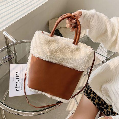 nueva bolsa de cubo portátil peluda NHRU276861's discount tags