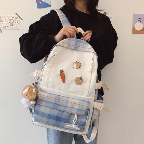 new  vintage  plaid school bag  NHGA276901's discount tags
