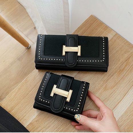 nuevo remache moda cartera larga bolsa de tarjeta corta NHGA276902's discount tags