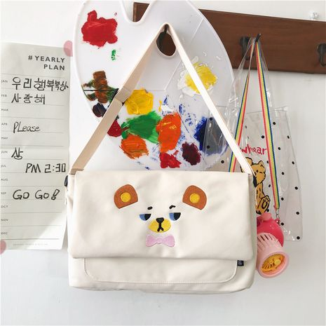 new  cute canvas single shoulder small square bag NHGA276912's discount tags