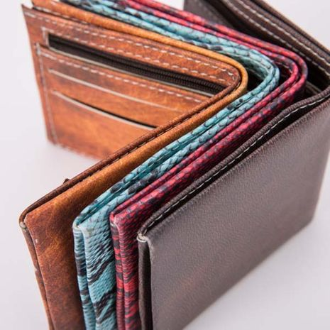 retro zipper PU leather wallet multi-function flip card case  NHBN276926's discount tags