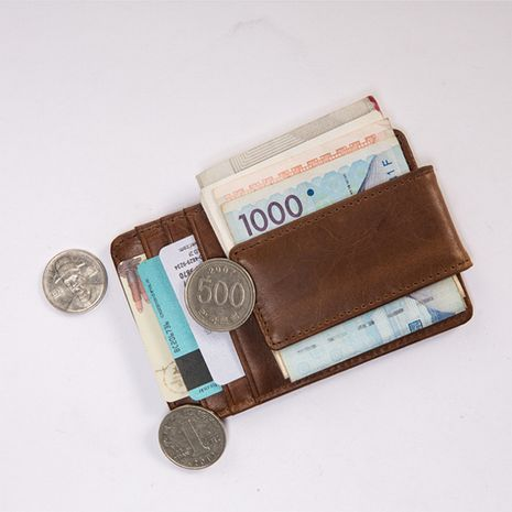 Korean  creative anti-magnetic pu leather wallet  NHBN276927's discount tags