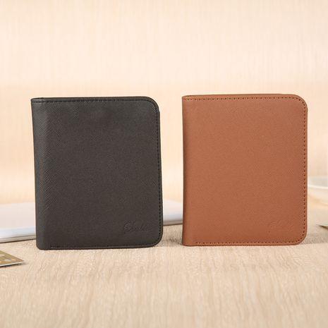 Cartera multifunción de cuero PU creativo de impresión en color sólido corto coreano NHBN276939's discount tags