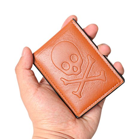 Nueva cartera coreana con patrón de calavera ultrafina NHBN276968's discount tags