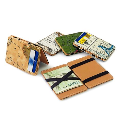 New Korean map pattern magic  wallet NHBN276969's discount tags