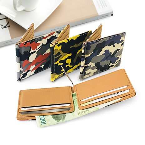 Korean  new creative PU camouflage wallet  NHBN276970's discount tags