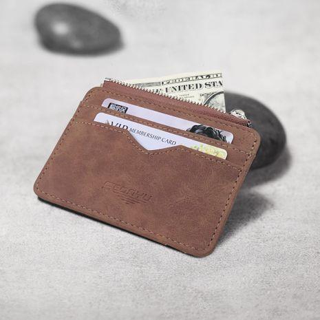nueva cartera coreana corta de cuero esmerilado NHBN276972's discount tags