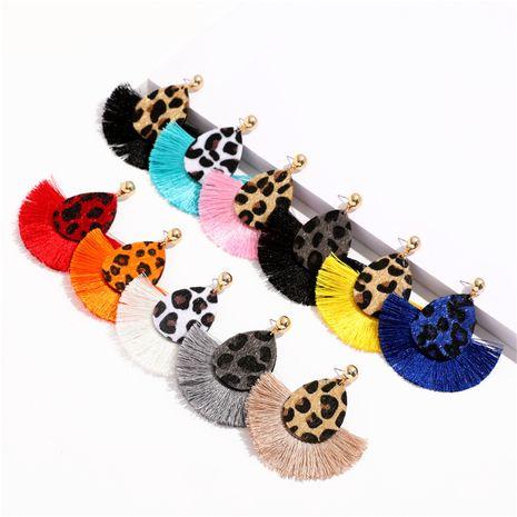 creative fashion fan-shaped earrings NHQC278800's discount tags