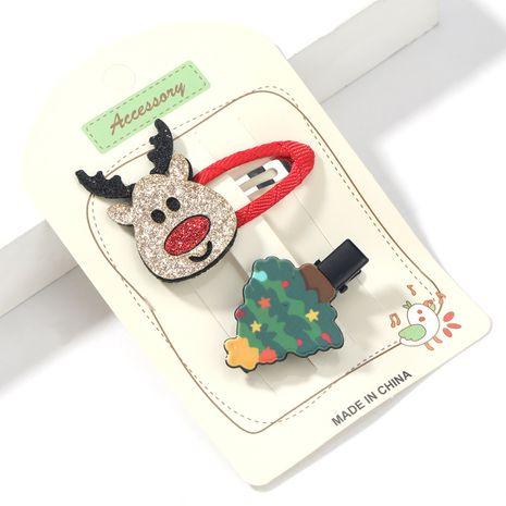 Ensemble d'épingles à cheveux d'arbre de Noël en résine de wapiti en flanelle Christmas Series NHJE264744's discount tags