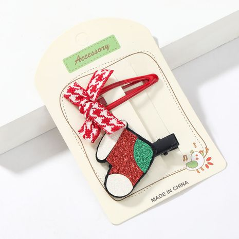 Weihnachtsflanell Weihnachtsstiefel Bogen BB Clip NHJE264747's discount tags