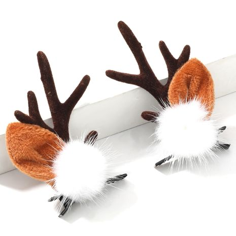 Weihnachtsfeder Flanell kleines Geweih Paar Chuck Cute Haarnadel NHJE264749's discount tags