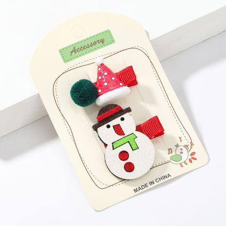 Weihnachts Flanell Schneemann Harz Weihnachtsmütze Paar Clip NHJE264748's discount tags
