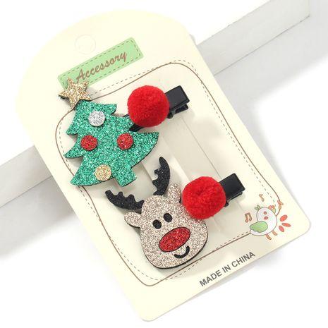 Weihnachts Flanell Elch Weihnachtsbaum Entenschnabel Clip Set NHJE264750's discount tags