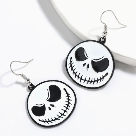 Halloween  alloy  white skull Halloween earrings NHJE264762's discount tags
