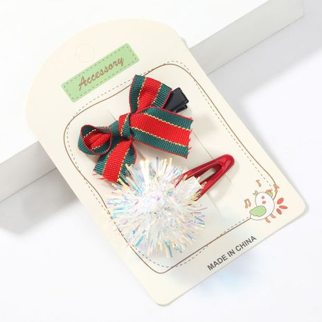 Weihnachten Grosgrain Bowknot Resin White Ball Koreanische Haarnadel NHJE264763's discount tags