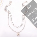 hotselling retro alloy  bright gold waterfall style geometric necklace NHJQ264766