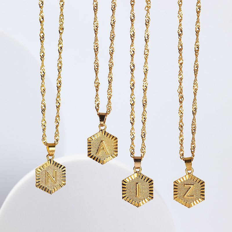 fashion  26 uppercase English necklaces NHNZ264792