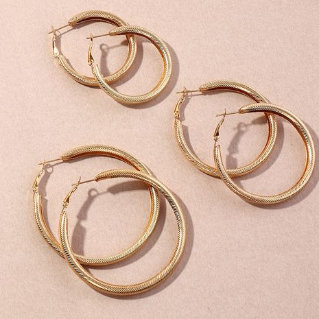 fashion all-match thread circle earrings set  NHNZ264795's discount tags