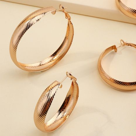 fashion all-match C-shaped simple circle earrings set  NHNZ264796's discount tags