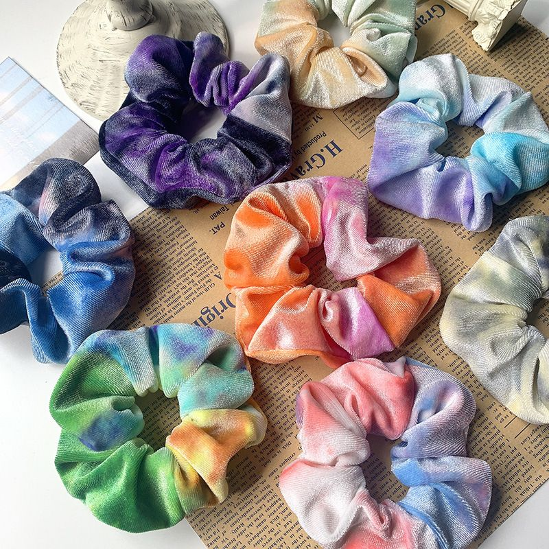 color large intestine circle retro all-match fabric hair scrunchies  NHOF264823