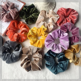 fashion  tie velvet large intestine hair scrunchies  NHOF264830